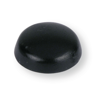 CAP RAISED HEAD 12X7X4,2 BLACK